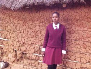 Nonduduzo Nkhambule, en av flickorna som Swazi Children sponsrar. Hon drömmer om att bli läkare.